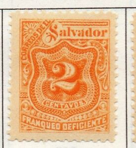 El Salvador 1899 Postage due  Issue Fine Mint Hinged 2c. 141204
