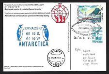 Ukraine Antarctic Station AKADEMIK VERNADSKY postmarked postcard