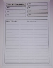 A5 MEAL & SHOPPING LIST PLANNER - MAGNETIC PAD - PORTRAIT - 50+ PAGES - BLACK