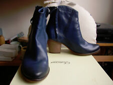 BNIB Navy blue leather boots size 38/5 Somerset Alice Temperley Meare John Lewis