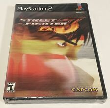 PLAYSTATION 2 STREET FIGHTER EX3! NEW/SEALED! RARE BLACK LABEL Y-FOLD! SONY PS2
