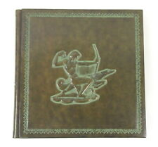 """Daisy Arts Large 14"""" x 14"""" Embossed Leather Photo Album Made in Italy New"""
