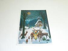 "greeting cards  ARS SACRA  ""J.Madlener ""Christmas in the Forest Chapel "" 0011"