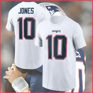 MAC JONES #10 Patriots New England Patriots NFL Football T shirt White Tee Hot