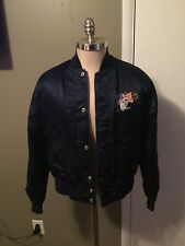 Vintage Harley-Davidson Eagle Satin Jacket Sz S Born in the USA ALL Stitching
