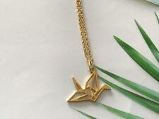 Origami Flamingo Bird Necklace, Geometric Necklace