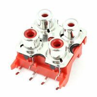 Panel Mount Stereo Audio Video Jack Socket 4 Position RCA Female Connector