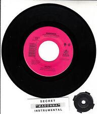 "MADONNA  Secret 7"" 45 rpm vinyl record NEW + juke box title strip"