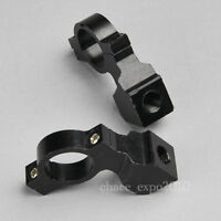 "Black 10MM 7/8"" Motorcycle Handle Bar Mirror Mount Holder Adaptor Aluminum Clamp"