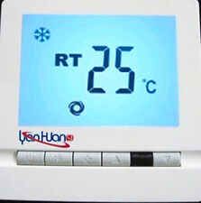 Blue LCD  220V Central Air Conditioner Controller Temperature Heat Cool Fan K03