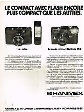Publicité Advertising 1978 Appareil Photo Hanimex 35 IF