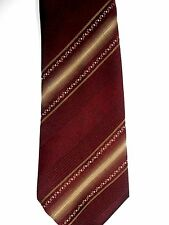 "Tootal Men's Polyester Tie 54.5"" X 3"" Purple w/ brass British Stripes"