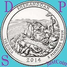 2014 P-D-S SET SHENANDOAH NATIONAL PARK (VIRGINIA) QUARTERS UNCIRCULATED US MINT