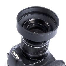 58mm 3-etapa caucho Parasol para Canon Nikon Sony Pentax Olympus DSLR 58MM lens