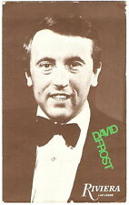 David Frost Promotional Advert Riviera Casino Las Vegas 1970's Vintage Postcard