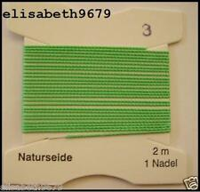 1véritable fil d'enfilage perle, vert pomme,jade