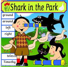 SHARK IN THE PARK Teaching story resources for sack KS1 EYFS teacher resource CD