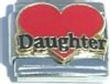 Italian Charm Red Heart Love Daughter Girl Family