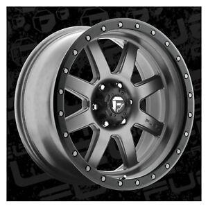 Fuel Offroad D55220905650 20x9 Trophy 1 mm Offset 5x150 GunMetal Single Rim