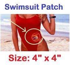 "Baywatch Bay Watch La Lifeguard Swim Suit 4"" Patch BAY-04 IRON-ON 4"" TV Series"