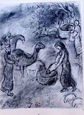 Marc Chagall offset lithograph Bible  paris maeght 1960 original  2 sided 118