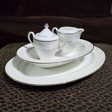 Nikko 5 Piece Fine Bone China Japan Pearl Ariel Sugar Cream Plate Completer Set