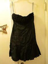 Venus  -  Strapless Black Dress with adornment  -  Size 2  -  Cotton/Spandex