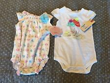 NWT Girls 3M/ First Moments Safari Animal + beach pups ONE-PIECE ROMPER OUTFITS