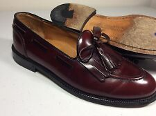 BENCH MADE IN MAINE USA Cole Haan Cordovan Tassle Loafers Size 9D