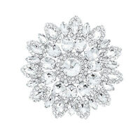 100mm Silver Diamante Rhinestone Crystal Sewing Applique Motif Fashion Accessory