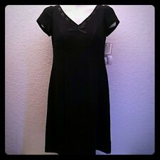 Warren Petites New York Ladies Little Black Cocktail Dress NWT Womens 4P New