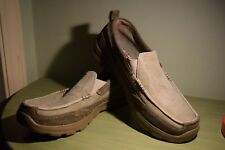 NEW  Men's Size 7 Skechers Pace Relaxed Fit Slip On Loafer Grey Brown Shoes