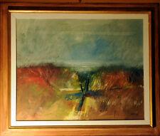 """ALVARO CAPONI """" Urla e biancheggia il mar """" pittura ad olio su tela cm.100 x 80"""