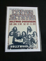 LYNYRD SKYNYRD : HOLLYWOOD SPORTATORIUM 1977  : A4 GLOSSY REPRODUCTION POSTER