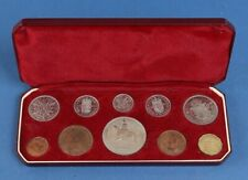 Great Britain: 1953 QEII Coronation ¼d to Crown 10-Coin Proof Set , Scarce