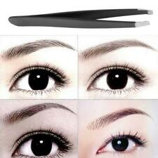 1x Oblique Eyebrow Tweezers Hair Removal Stainless Steel Eyebrow Shaping Makeup