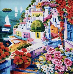 ATHOS FACCINCANI 40x40 olio su tela completo di cornice originale dell'artista