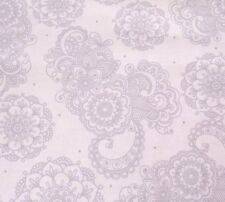 Love Hope Pray Denise Urban Quilting Treasures BTY Gray Floral Paisley on White