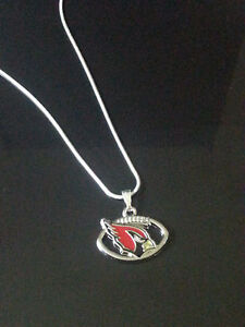 Arizona Cardinals Pendant Necklace on Sterling Silver Chain NFL Football
