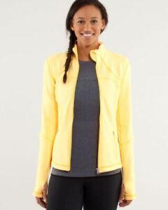 LULULEMON Forme Jacket Burning Yellow Size 6 NWT