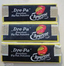 original 3 Packungen Zigarettenpapier mit Steuernbanderole