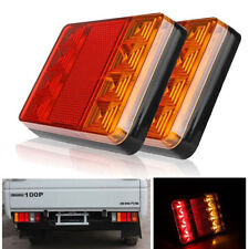 Waterproof 8 LED Trailer Light Rear Tail Lamp 12V DC Car Truck Boat CaravaZJP