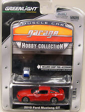 RED 2010 FORD MUSTANG GT GREENLIGHT COLLECTIBLES 1:64 SCALE DIECAST METAL CAR