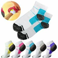 1-6Pairs Men Women Compression Socks Plantar Fasciitis Arch Ankle Run Support US