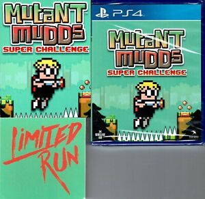 Mutant Mudds Super Challenge Ps4 New Includes Checklist Card and Sticker