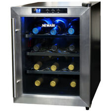 NewAir AW-121E 12 Bottle Countertop Thermoelectric Wine Cooler, Stainless Steel