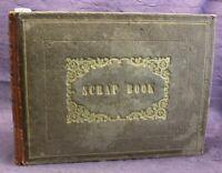 Scrap Book mit Stahlstich, Holzstich, Lithografien, Fotografien 1850-1880 js
