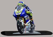 MODEL CARS, MOTO, Valentino Rossi, yamaha -04 avec horloge, 11,8x 7,8 in