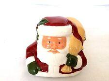 4 Christmas Party Favor Ceramic Pottery Santa Decoration Longaberger