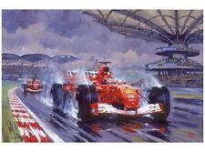 NOSTALGIC Saluti cartolina Motorsport Assalto ad una vittoria Ferrari